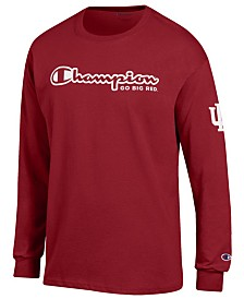 Champion Men's Indiana Hoosiers Co-Branded Long Sleeve T-Shirt