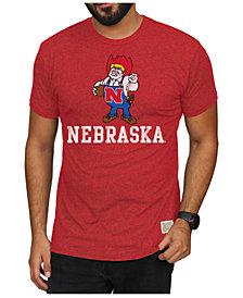 Retro Brand Men's Nebraska Cornhuskers Mock Twist Vault Logo T-Shirt
