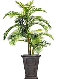 "102.8"" Tall Palm Tree Artificial Indoor/ Outdoor Lifelike Faux in Fiberstone Planter"