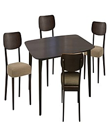 """48"""" Small Dining Wooden Set of 5 Pieces"""