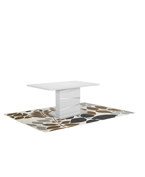 "New Spec Inc Della 55"" Glossy Pedestal Dining Table"