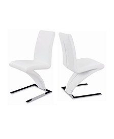New Spec Z-Shape Leatherette Side Chair Set of 2 Pieces