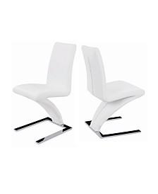New Spec Z-Shape Leatherette Side Chair Set of 2 Pieces