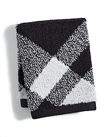 """Plaid Cotton 13"""" x 13"""" Wash Towel, Created for Macy's"""
