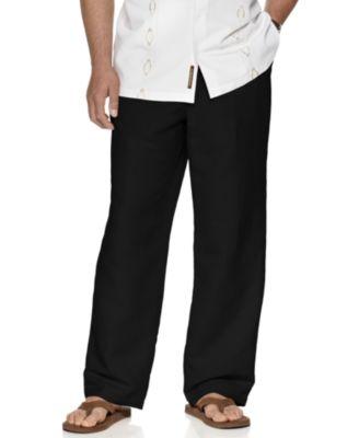 "Big and Tall Drawstring Linen-Blend 32"" Length Pants"