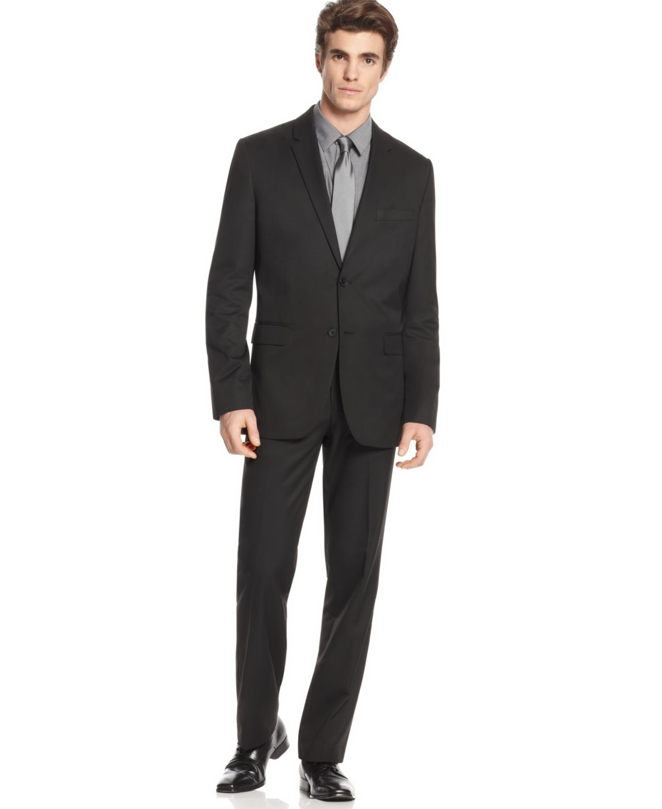 Calvin Klein Men's Suit, Slim Fit Two Piece Suit - Suits & Suit ...