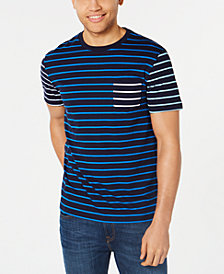 Club Room Men's Contrast Stripe T-Shirt, Created for Macy's