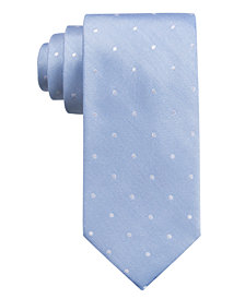 Ryan Seacrest Distinction™ Men's  Burgos Dot Slim Silk Tie, Created for Macy's