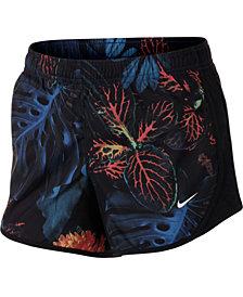 Nike Big Girls Dry Tempo Printed Running Shorts
