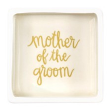 Coton Colors Stripe Mother of the Groom Square Trinket Bowl Smoke