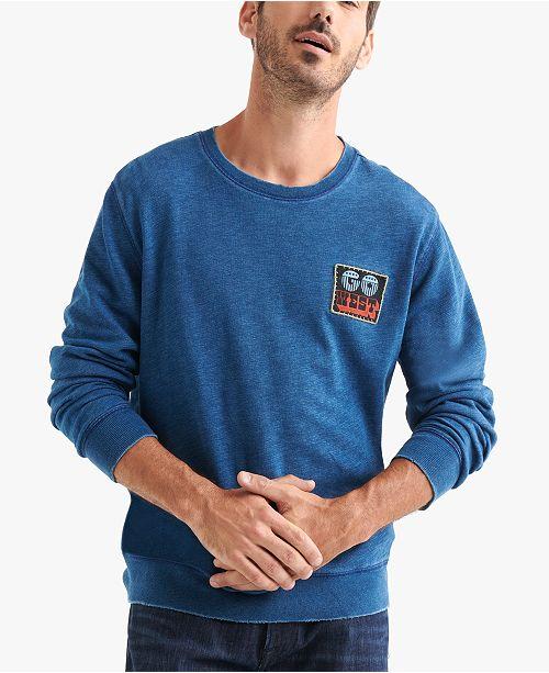 Lucky Brand Men's Faded Patch Sweatshirt