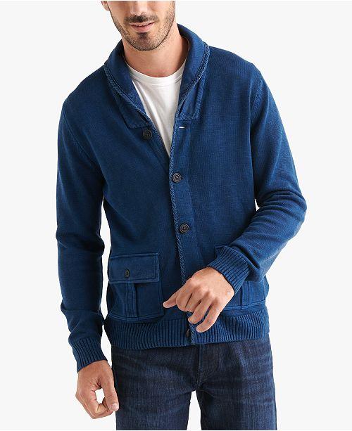 Men's Shawl Collar Pocket Cardigan