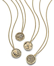 RACHEL Rachel Roy Gold-Tone Crystal Mystical Charm Pendant Necklace Separates