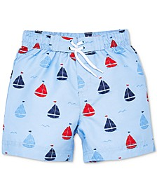 Sail Boat Baby Boys Swim Trunks