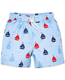 Little Me Sail Boat Baby Boys Swim Trunks