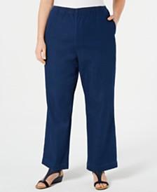 89f6184446276 Karen Scott Plus Size Denim Pull-On Pants