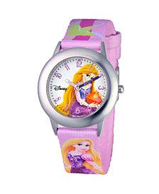 Disney Rapunzal Girls' Stainless Steel Time Teacher Watch