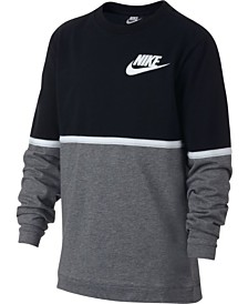59efedc209f9dc Nike Big Boys Sportswear Advance 15 Crewneck T-Shirt