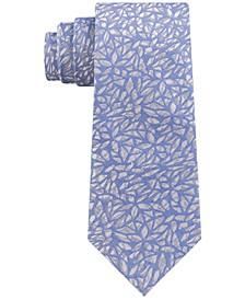 Men's Geo Botanical Slim Tie
