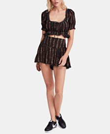 Free People Wild Love Printed Top & Skort Set