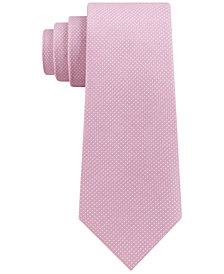 DKNY Men's Blended Micro Dot Slim Tie
