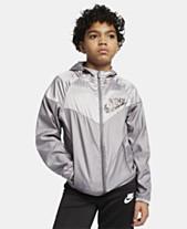 09d186a0e1 Nike Big Boys Sportswear Windrunner Hooded Jacket