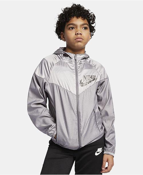 f5dbf264e4 Nike Big Boys Sportswear Windrunner Hooded Jacket & Reviews - Coats ...