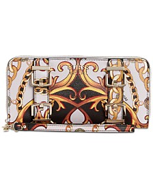 GUESS Jori Printed Zip Around Wallet