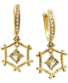 Kesi Jewels Citrine (1-1/4 ct. t.w.) and Diamond Accent Drop Earrings in 18k Gold-Plated Sterling Silver