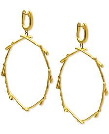 Kesi Jewels Drop Hoop Earrings in 18k Gold over Sterling Silver