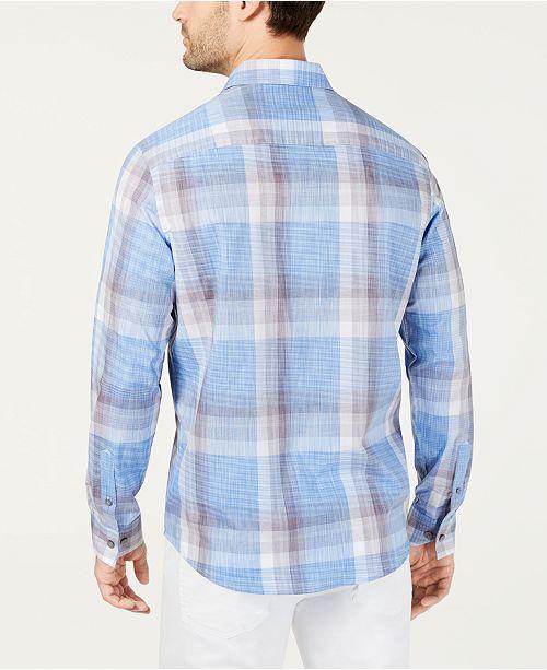 Men's Chemises Bleu Shirtcree Alfani boutons Hommes Novo a Lumineux Plaid pourAvis Casual Tl31FJcK