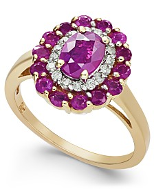 Ruby (2-1/8 ct. t.w.) & Diamond (1/6 ct. t.w.) Ring in 14k Gold