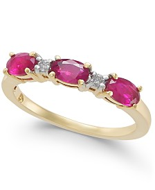 Ruby (1 ct. t.w.) & Diamond Accent Ring in 14k Gold