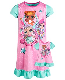 AME Little & Big Girls L.O.L. Surprise! Nightgown & Doll Nightgown