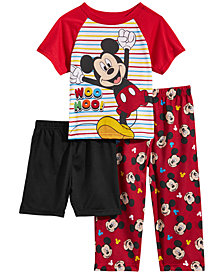 Mickey Mouse Toddler Boys 3-Pc. Mickey Mouse Pajama Set