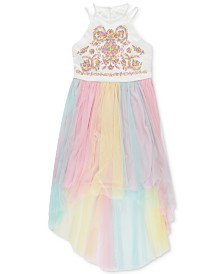 Speechless Big Girls Embroidered High-Low Hem Dress