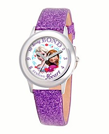 Disney Anna and Elsa Girls'Stainless Steel Watch