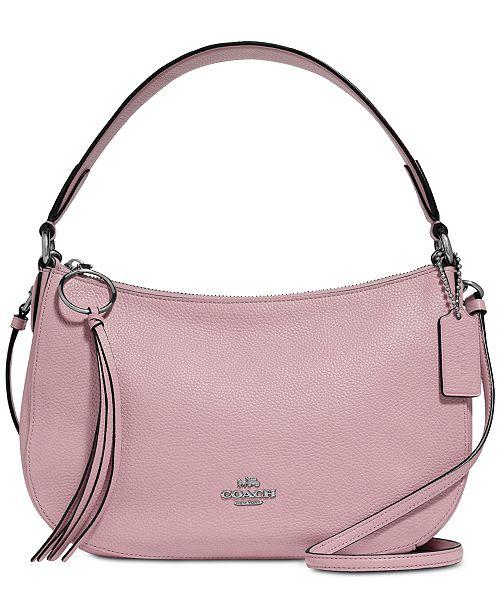 051c18c6e047 COACH Sutton Crossbody in Polished Pebble Leather - Handbags ...