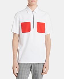 Calvin Klein Men's Half-Zip Contrast Pocket Shirt