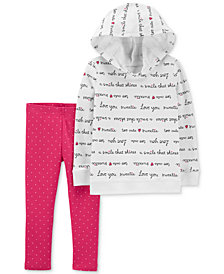 Carter's Baby Girls 2-Pc. Hoodie & Leggings Set