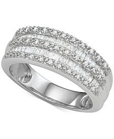 Diamond Band Ring (1/2 ct. t.w.) in Sterling Silver