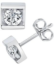 Diamond (1/2 ct. t.w.) Square-Set Stud Earrings