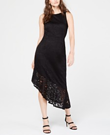 I.N.C. Lace Cutaway Midi Dress, Created for Macy's