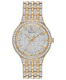 Bulova Men's Phantom Crystal-Accent Two-Tone Stainless Steel Bracelet Watch 40mm