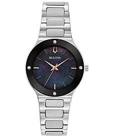 Women's Futuro Diamond-Accent Stainless Steel Bracelet Watch 32mm