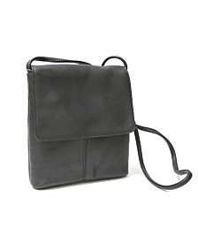 Royce Flap Over Crossbody Bag in Colombian Genuine Leather