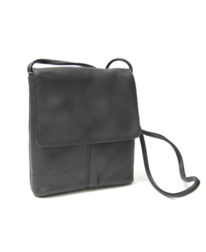 Image of Royce Flap Over Crossbody Bag in Colombian Genuine Leather