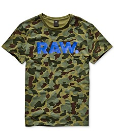 G-Star RAW Men's Camouflage Logo Graphic T-Shirt