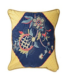 Rhapsody 20 inch Embroidered Decorative Pillow