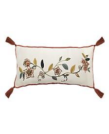 Brighton Blossom 9x22 Embroidered Decorative Pillow